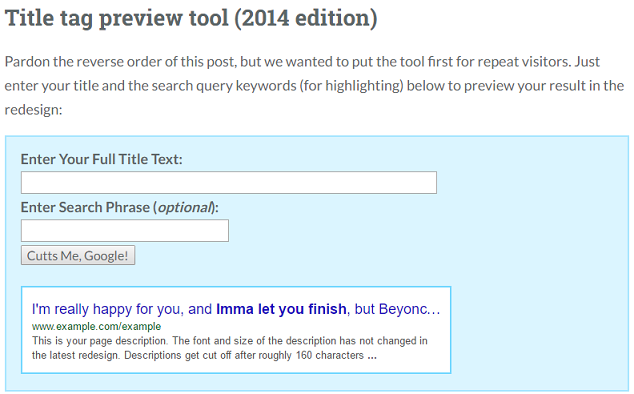MOZ title preview tool 2014